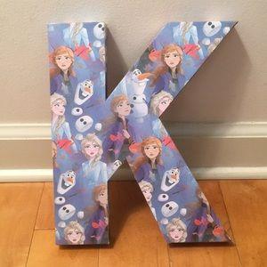 Disney Frozen Letter K wall decal